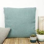 Plain Square Wool Cushion Cover with pad - Aqua
