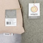 Plain Square Wool Cushion Cover - Tag with Information