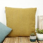 Zig Zag Square Wool Cushion Cover with pad - Saffron