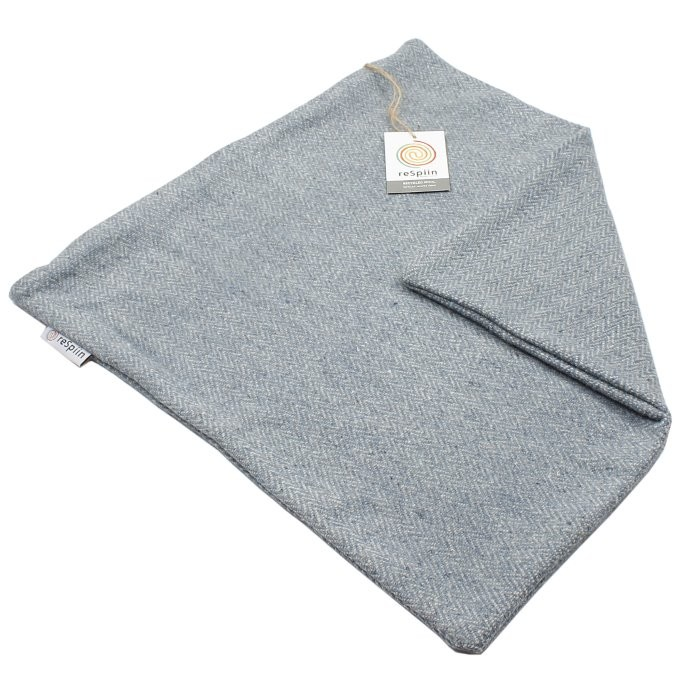 Zig Zag Square Wool Cushion Cover - Denim
