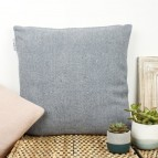 Zig Zag Square Wool Cushion Cover with pad - Denim