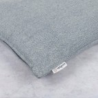 Zig Zag Square Wool Cushion Cover with pad - Denim - Label Close-Up