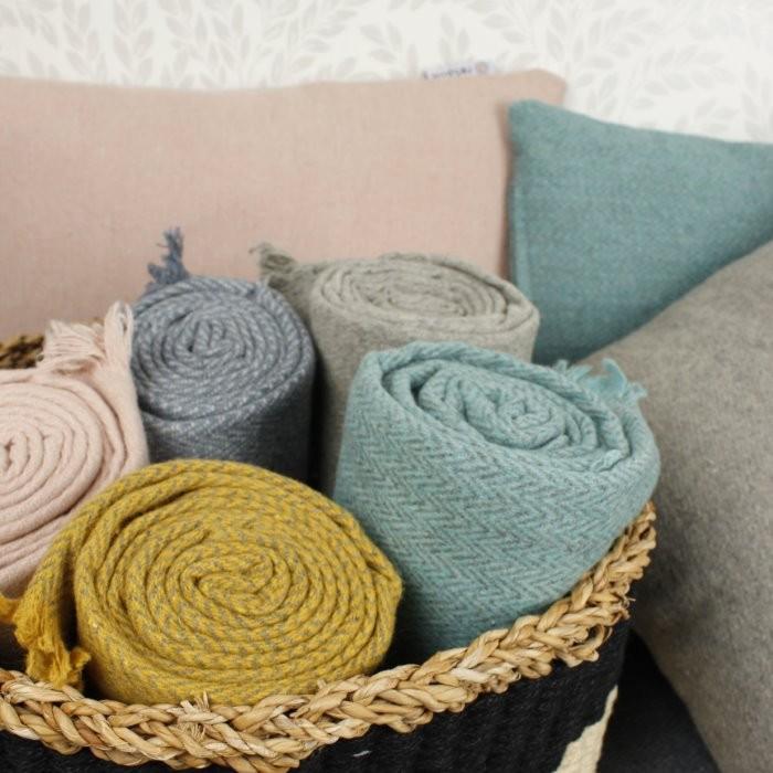 Wool Throw Range with Cushions