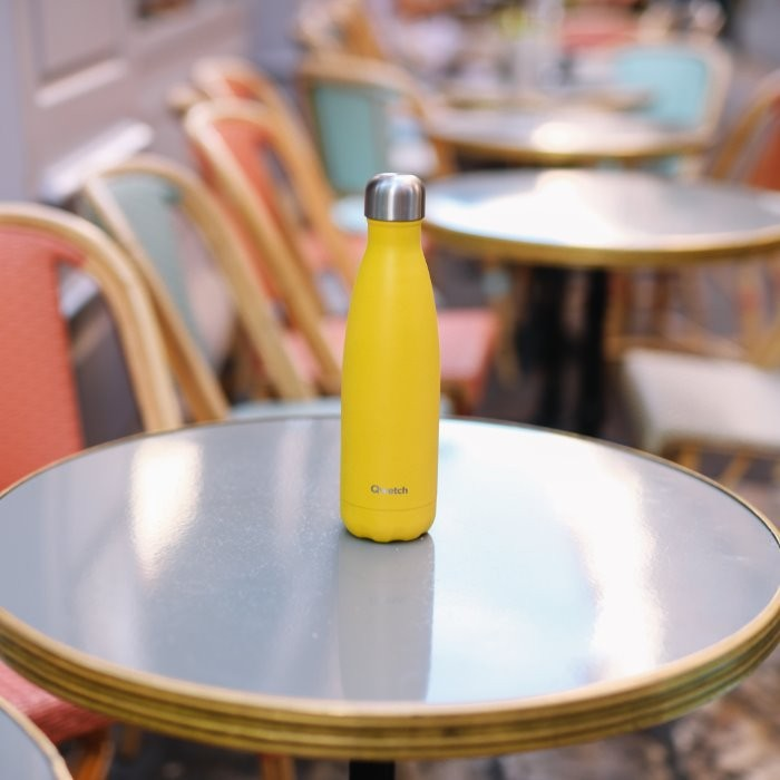 Insulated Stainless Steel Bottle - Pop Yellow - 500ml
