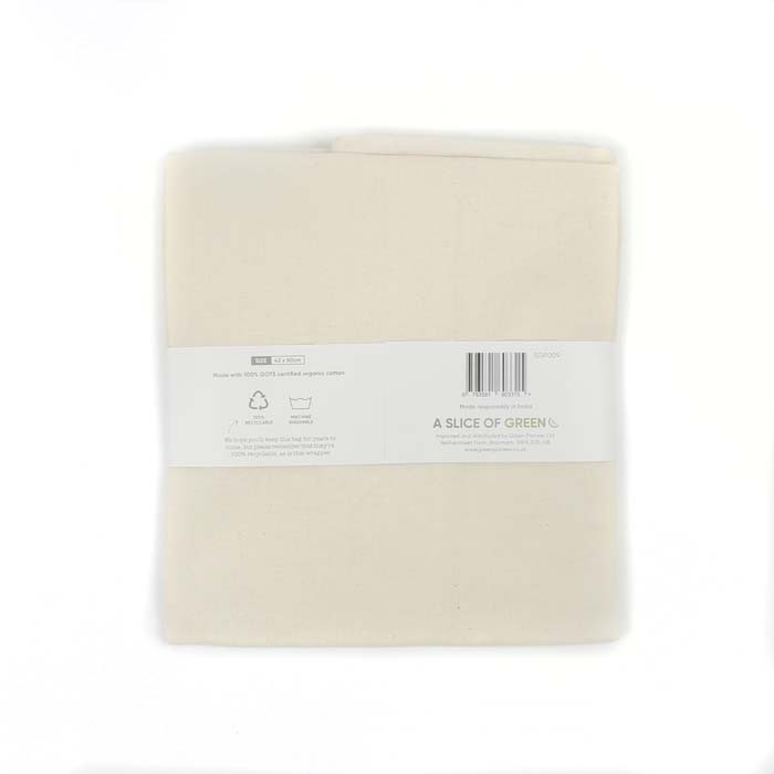 Organic Cotton Produce Bag - X-Large (43 x 50cm) - in packaging (back)