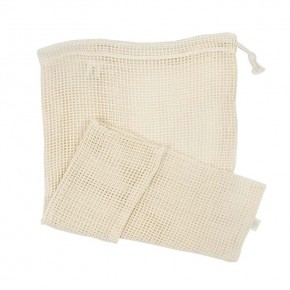 Organic Cotton Mesh Produce Bag - X-Large (43 x 50cm)