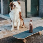 Insulated Stainless Steel Bottle - Rose Gold Metallic & Marble - 500ml