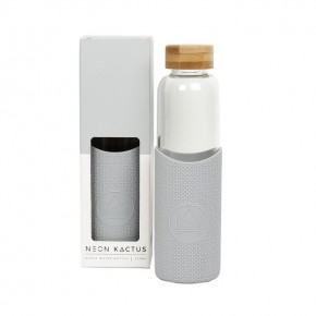 Glass Water Bottle - Cloud 9 - Grey - 550ml