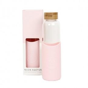 Glass Water Bottle - Friday Feelin - Pink - 550ml