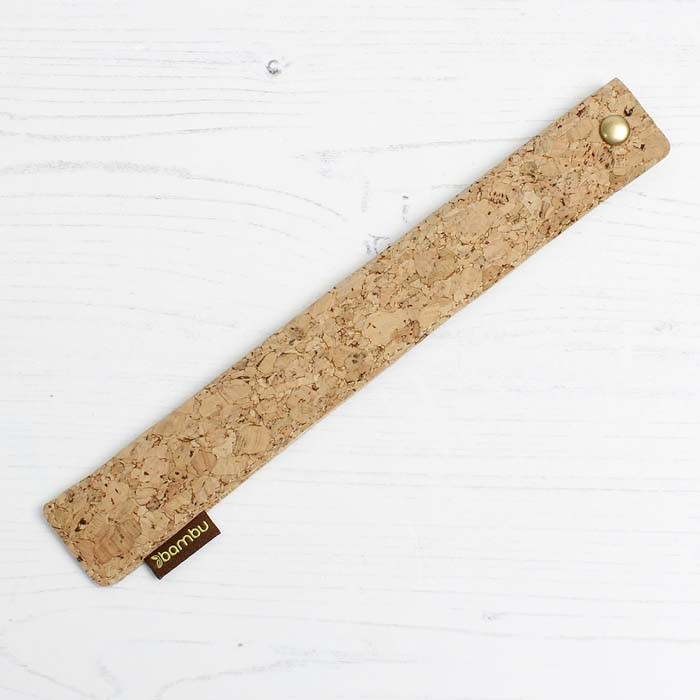Cork Fabric Straw Sleeve