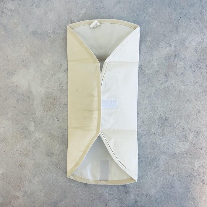 Organic Cotton Sandwich/Food Wrap - Natural - Folded