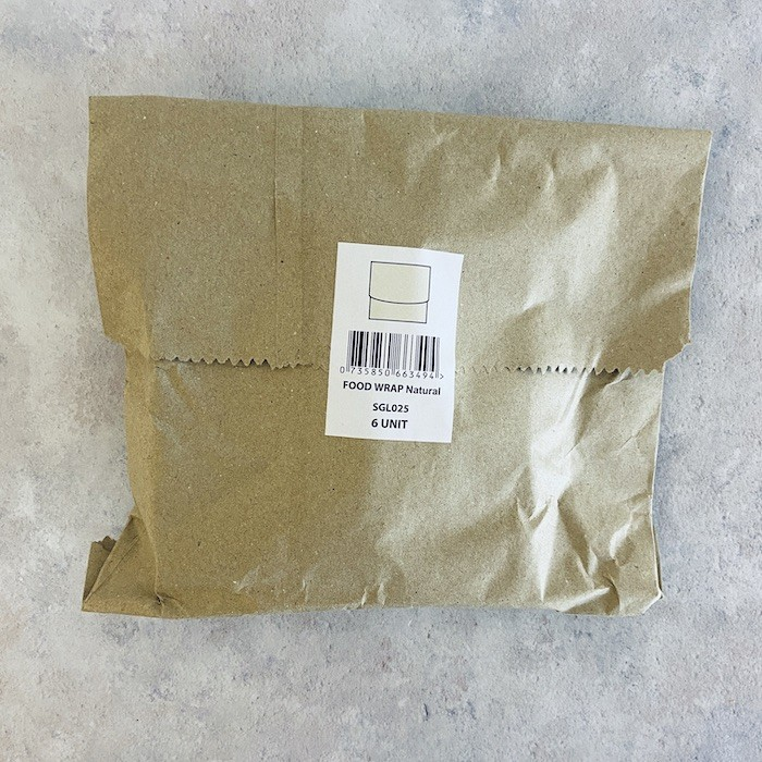 Organic Cotton Sandwich/Food Wrap - Natural - In Packaging