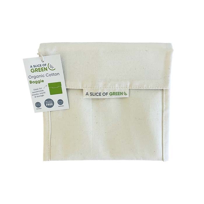 Organic Cotton Large Baggie - Natural - with Swing Tag