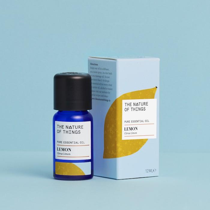 Lemon Essential Oil - Organic - 12ml - On Blue