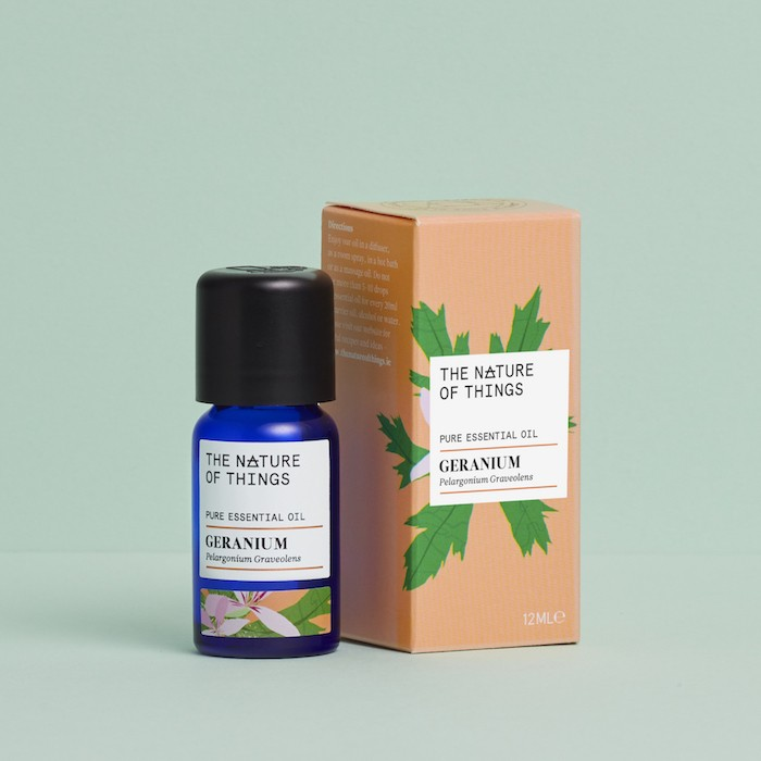 Geranium Essential Oil - Organic - 12ml - On Green