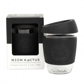 Glass Cup - Rock Star - Black - 12oz/340ml