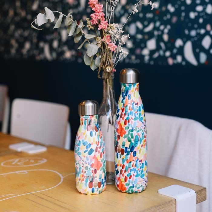 Insulated Stainless Steel Bottle - Arty - 260ml + 500ml