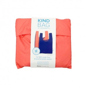 Reusable Shopping Bag - Bicolour Peach & Blue