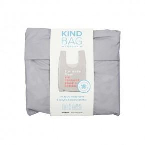 Reusable Shopping Bag - Recycle Grey & Coral