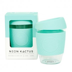 Glass Cup - Free Spirit - Mint - 12oz/340ml