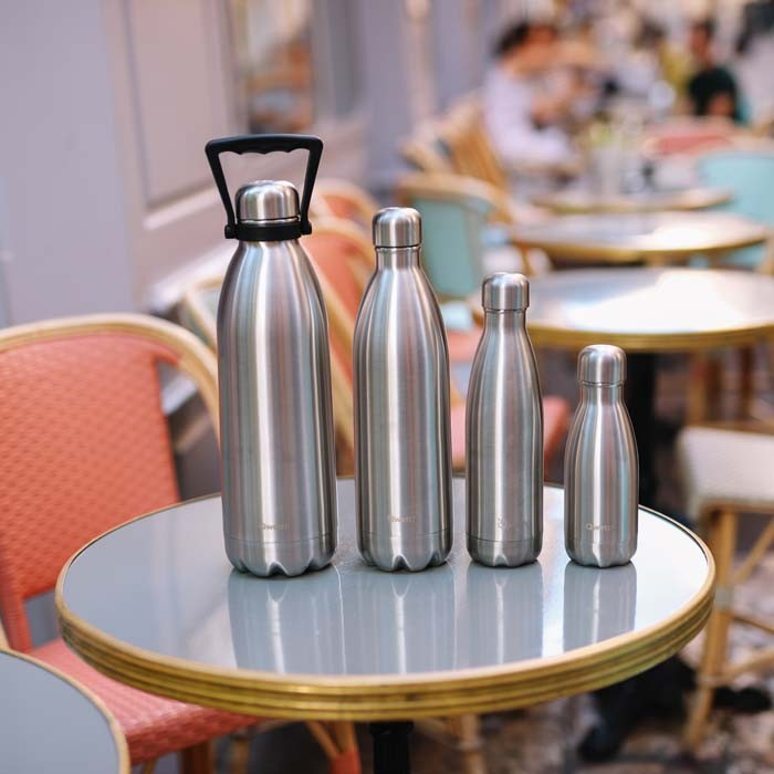 Insulated Stainless Steel Bottle - Brushed Steel - 750ml