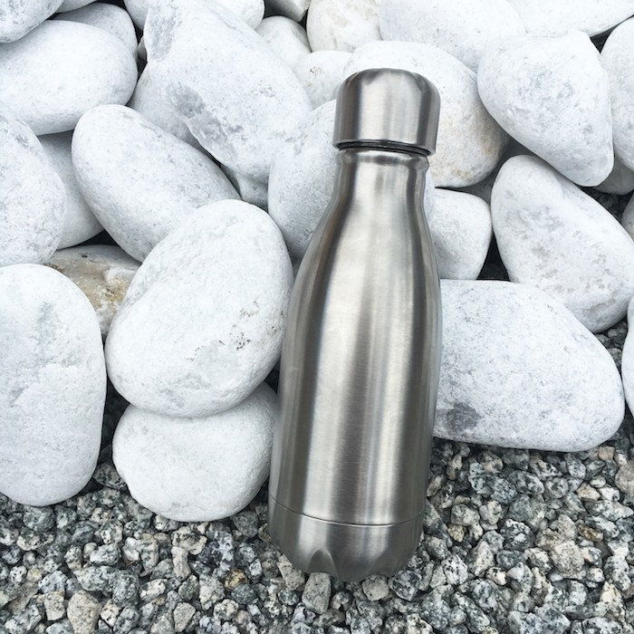 Insulated Stainless Steel Bottle - Brushed Steel - 260ml