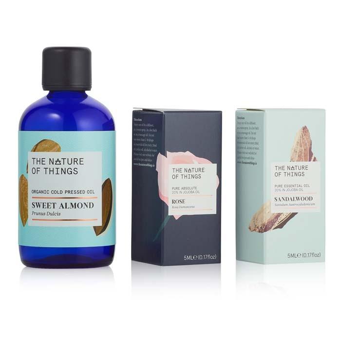 Be Sensual Gift Set - Rose, Sandalwood & Almond Oils