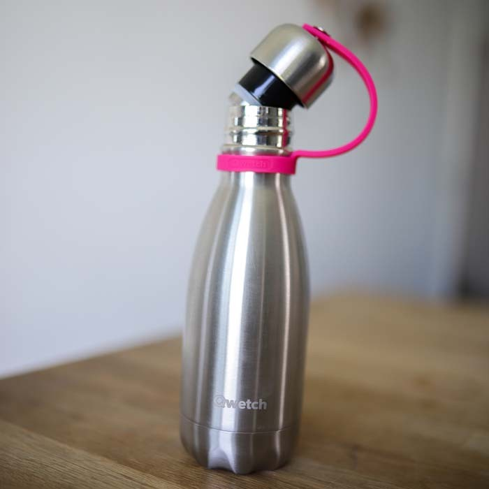 Bottle Lid with Silicone Strap – 260/500ml Bottle – Magenta