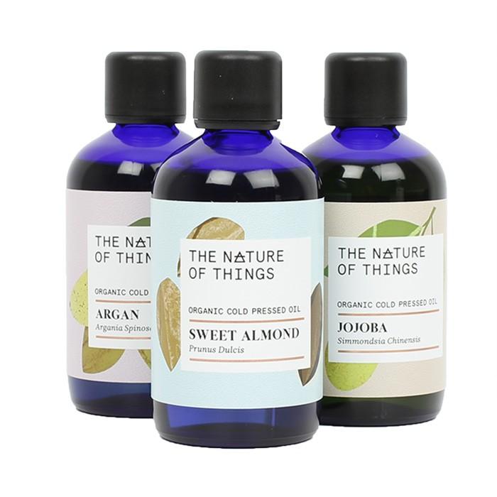 Organic Oils 100ml Mix Pack - Sweet Almond, Jojoba, Argan