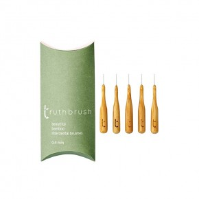 Bamboo Interdental Brushes - Pack of 5 - 0.4mm