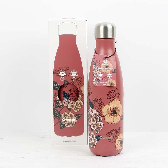 Insulated Stainless Steel Bottle - Anemones - 500ml