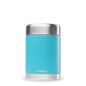 Insulated Stainless Steel Food Jar - Turquoise Blue - 340ml