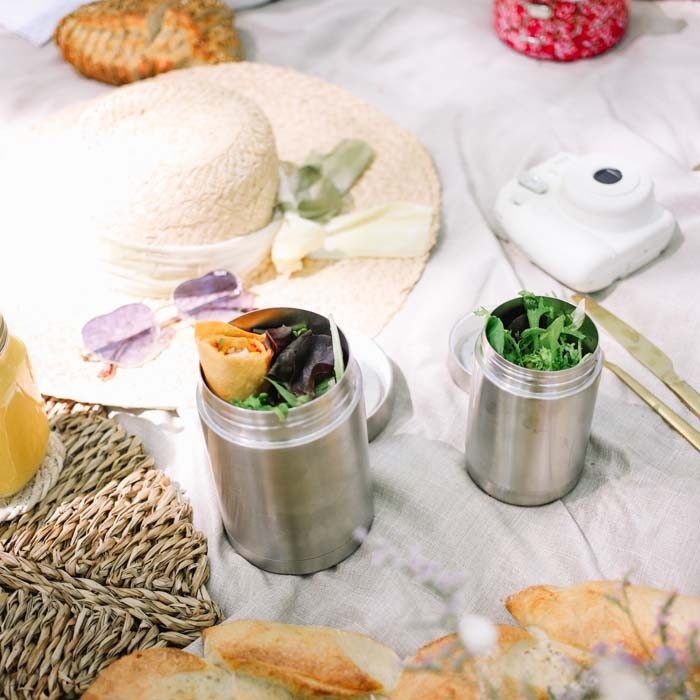 Insulated Stainless Steel Food Jars - Brushed Steel