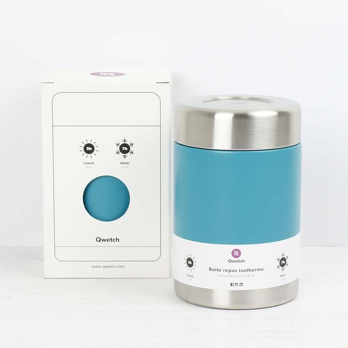Insulated Stainless Steel Food Jar - Turquoise Blue - 650ml