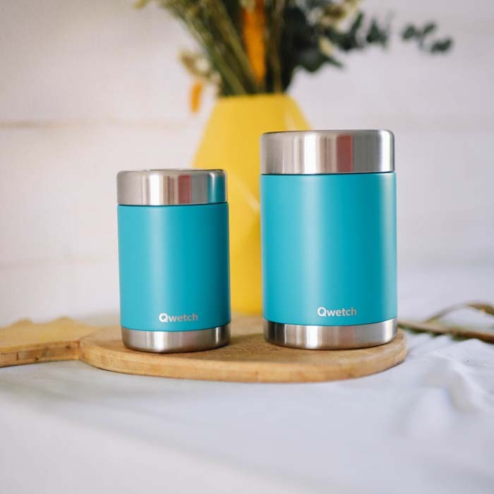 Insulated Stainless Steel Food Jars - Turquoise Blue