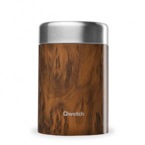 Insulated Stainless Steel Food Jar - Wood - 650ml