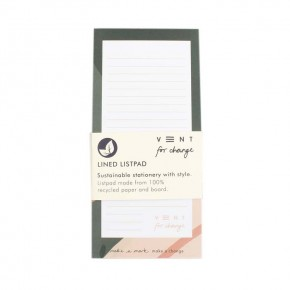 'Ideas' Lined List Pad - Green