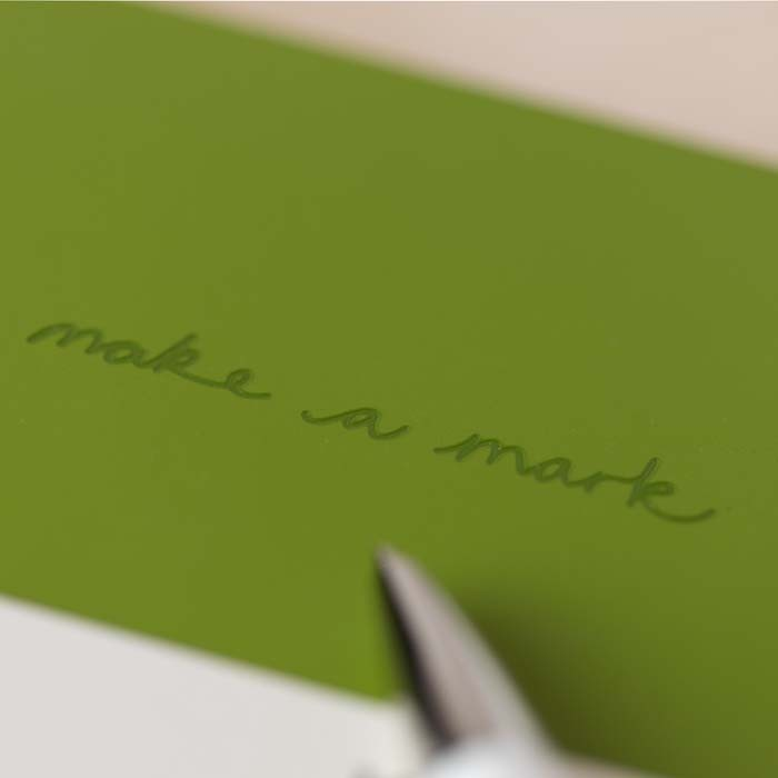 'Make a Mark' A5 Recycled Leather Lined Notebook - Green