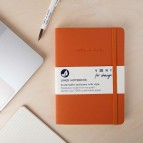 'Make a Mark' A5 Recycled Leather Lined Notebook - Orange