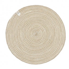Round Spiral Jute Tablemat - Natural/White