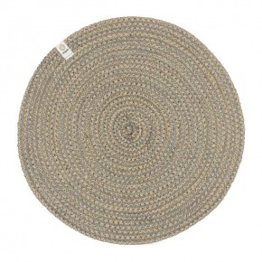 Round Spiral Jute Tablemat - Natural/Grey