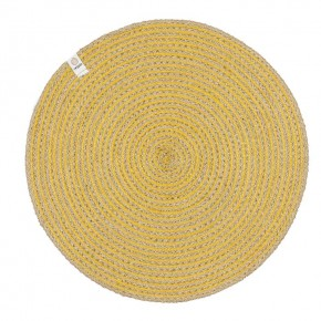 Round Spiral Jute Tablemat - Natural/Yellow