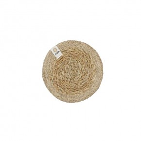 Round Seagrass & Jute Coaster - Natural/Natural