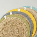 Round Seagrass & Jute Tablemat  - Natural/Natural