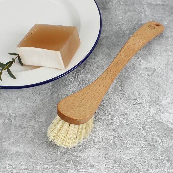 Wooden Shaped Dish Brush - Plant Based Bristles