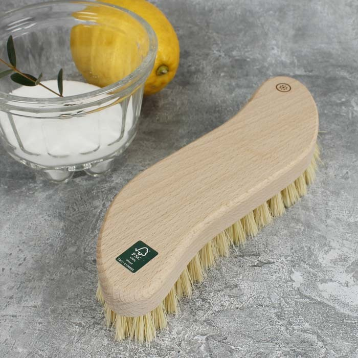 Wooden Scrubbing Brush - Plant Based Bristles
