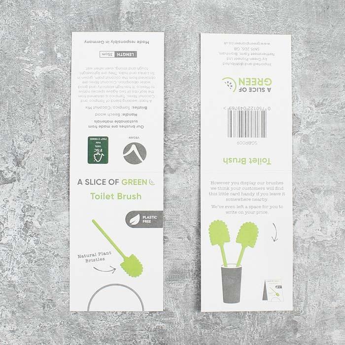 Wooden Toilet Brush - Plant Based Bristles