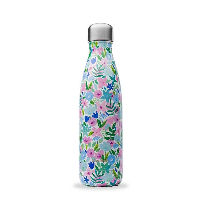 Insulated Stainless Steel Bottle - Flora Blue - 500ml