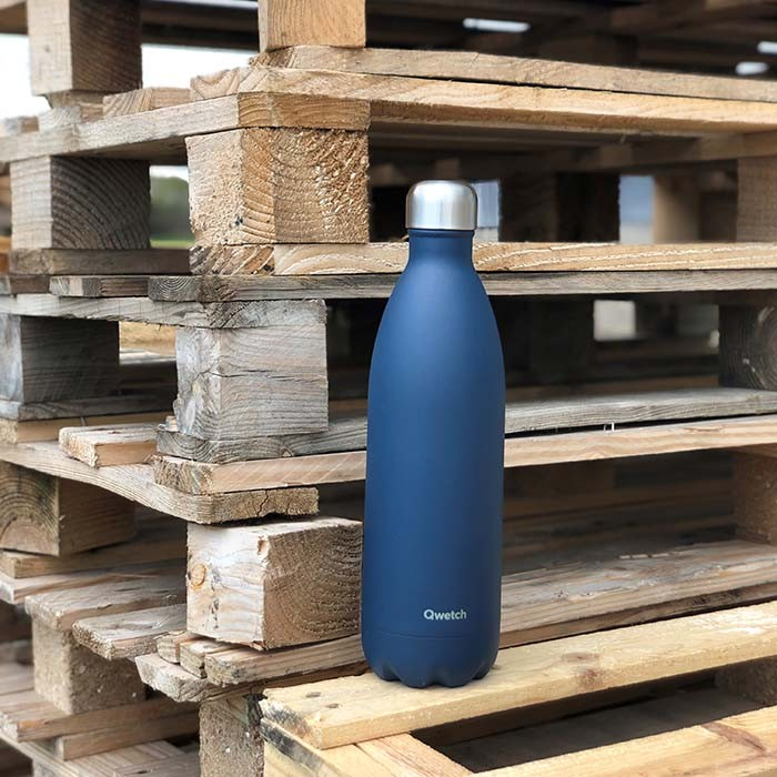 Insulated Stainless Steel Bottle - Granite Blue - 1l
