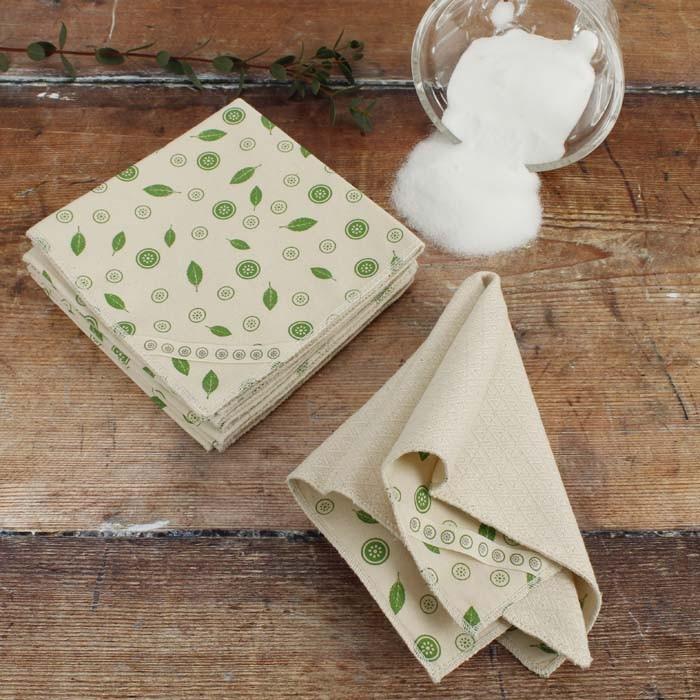 Organic Cotton Unpaper Towels - Mint Leaf - Pack of 5